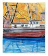 Fishing Trawler Fleece Blanket