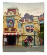 Five And Dime Disneyland Toontown Signage Fleece Blanket