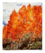 Flaming Aspens 2 Fleece Blanket
