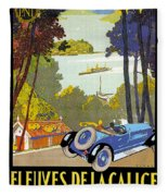 Fleuves De La Galice Automobile Fleece Blanket
