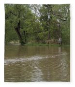 Flooded Park Fleece Blanket