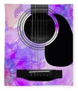 Floral Abstract Guitar 17 Fleece Blanket