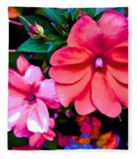 Floral Beauty Fleece Blanket