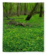 Floral Forest Floor Fleece Blanket