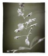 Flowering Grass Fleece Blanket