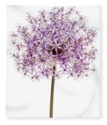 Flowering Onion Fleece Blanket