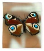 Fly Butterfly Fleece Blanket