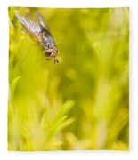Fly Insect In Amongst A Flurry Of Yellow Leaves Fleece Blanket