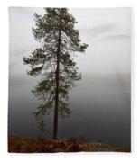 Foggy Lake Fleece Blanket