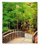 Folsom Bridge At Furnace Creek Fleece Blanket