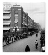 Ford Work Shift Change - Detroit 1916 Fleece Blanket