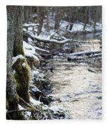Forest Lights Fleece Blanket