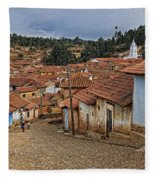 forgotten village Totora Fleece Blanket