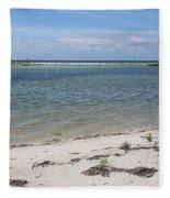 Fort Desoto Beach Fleece Blanket