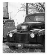 Forties Ford Pickup Fleece Blanket