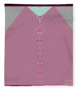 Fractal 28 Pink Gingham Shirt Fleece Blanket