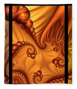 Fractal Triptychon Fleece Blanket