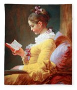 Fragonard's Young Girl Reading Fleece Blanket