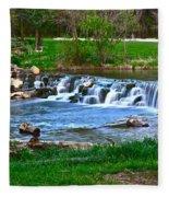 Framed Falls Fleece Blanket