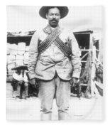 Francisco 'pancho' Villa (1878-1923) Fleece Blanket