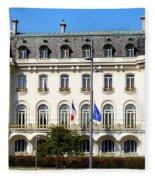 French Embassy In Vienna Fleece Blanket