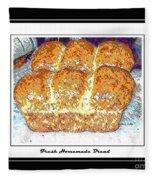 Fresh Homemade Bread Fleece Blanket