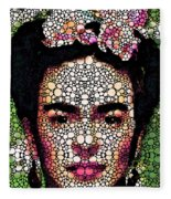 Frida Kahlo Art - Define Beauty Fleece Blanket