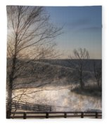 Frosty Sunrise Fleece Blanket