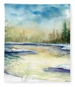 Frozen Creek Fleece Blanket