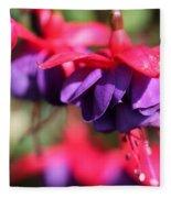 Fuchsia Named Dark Eyes Fleece Blanket