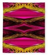Fuchsia Sensation Zigzags Fleece Blanket