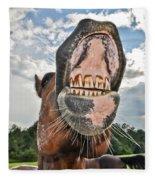 Funny Horse Fleece Blanket