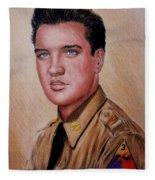 G I Elvis  Fleece Blanket
