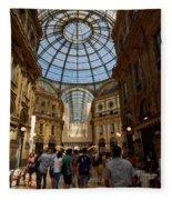 Galleria Vittorio Emanuele. Milano Milan Fleece Blanket