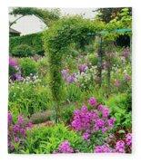 Garden Of Claude Monets House, Giverny Fleece Blanket