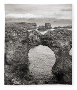 Gatklettur Arch In Hellnar Fleece Blanket