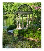 Gazebo By Lake Fleece Blanket