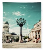 Gendarmenmarkt In Berlin Germany Fleece Blanket