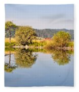 George Town Lake Reflections Fleece Blanket