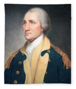 George Washington By Rembrandt Peale Fleece Blanket