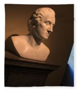 George Washington Dark Blue -- Horatio Greenough Fleece Blanket