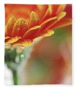 Gerbera Flower Fleece Blanket