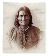Geronimo Native American Chief Fleece Blanket
