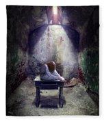 Girl In Abandoned Room Fleece Blanket