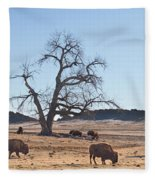 Give Me A Home Where The Buffalo Roam Fleece Blanket
