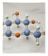 Glucose Molecule Fleece Blanket
