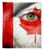 Go Canada Fleece Blanket