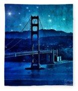 Golden Gate Bridge Night Fleece Blanket