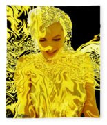 Golden Goddess Fleece Blanket