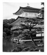Golden Pagoda In Kyoto Japan Fleece Blanket